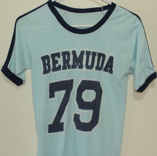 1979 Bermuda vintage light blue ringer t-shirt XS