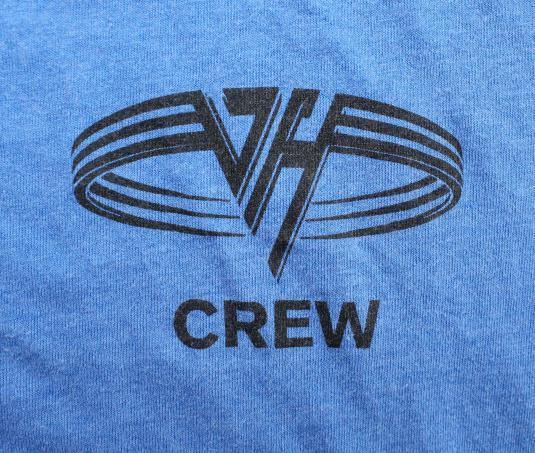 Van Halen Crew vtg tee Short L blue 80s hard rock band