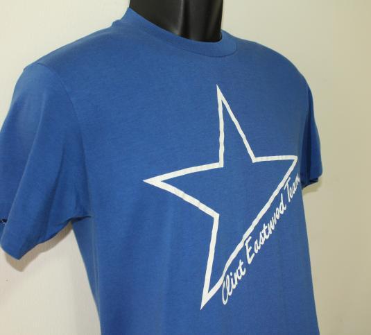 Clint Eastwood Team star vintage blue t-shirt M/S