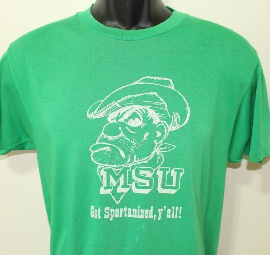 Michigan State Spartans vintage green t-shirt Medium/Large