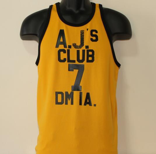 AJ's Club Des Moines Iowa #7 vintage tank top jersey shirt S