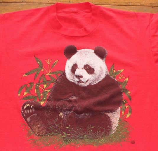 Panda Bear 1990 vintage t-shirt Large
