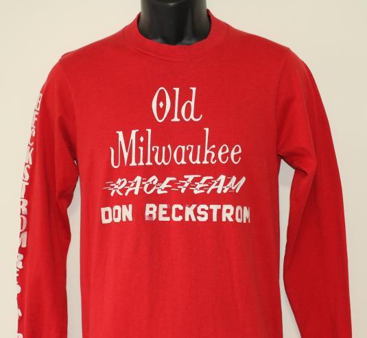 Old Milwaukee Race Team Beckstrom vtg long sleeved t-shirt S