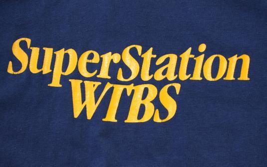 WTBS Superstation Atlanta Georgia vintage navy t-shirt Med