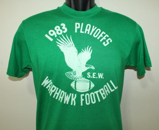 Warhawk Football 1983 Playoffs green Sport-T t-shirt Tall S