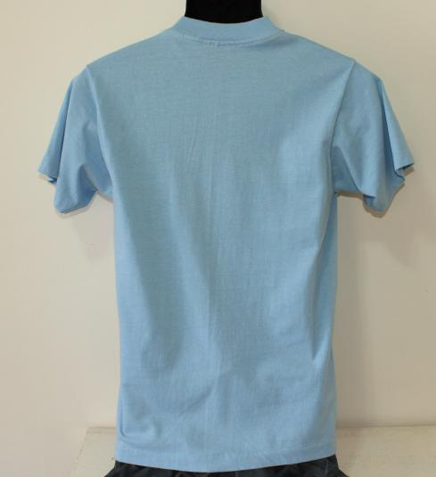 X103 radio station vintage light blue Screen Stars t-shirt S