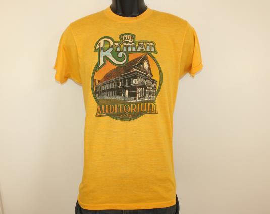 Ryman Auditorium vtg tee XS/S yellow 70s 1979 Nashville TN