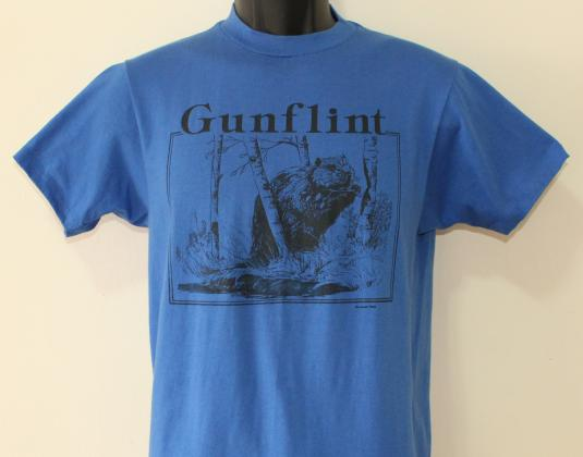Gunflint Trail Minnesota Beaver vintage blue t-shirt M/S
