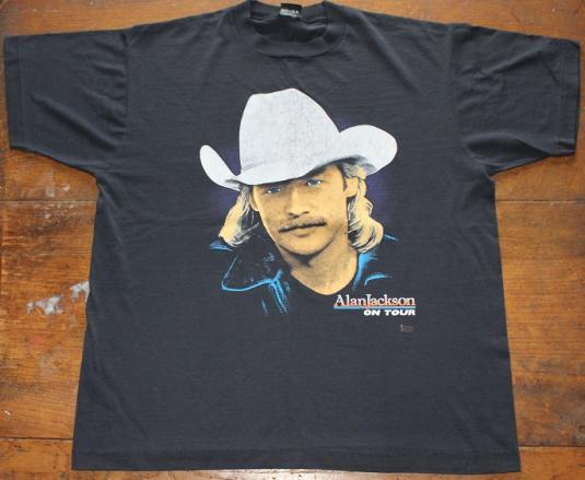 Alan Jackson country music 1992 vintage t-shirt XL