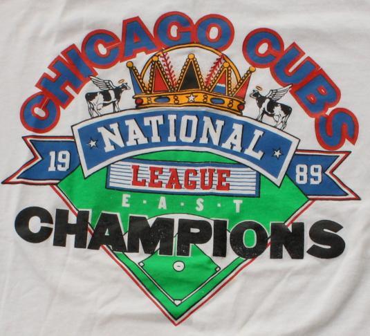 Chicago Cubs 1989 NL Champs vintage t-shirt L/M