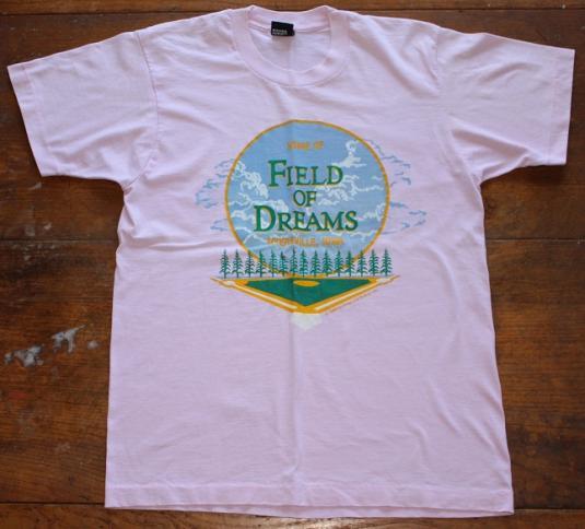 Field of Dreams 1989 vintage pink t-shirt Medium/Large