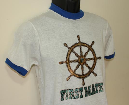 First Mate DEADSTOCK vintage Bantam ringer t-shirt Small