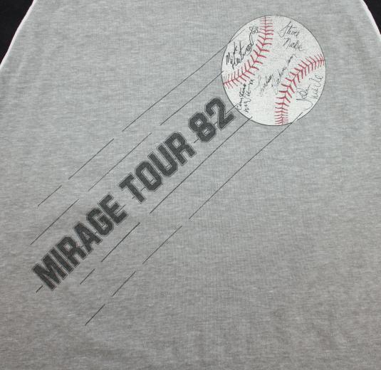 Fleetwood Mac 1982 Mirage Tour vtg v-neck tee XS/S gray