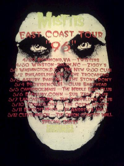 Misfits 1996 East Coast Comeback Tour