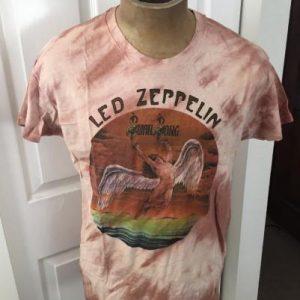 1970s Led Zeppelin Swan Song Shirt Tie Dye size XL