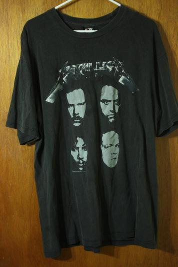 Vintage Metallica Thrash Metal Giant T-Shirt Black Album