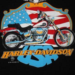 Vintage Early 90's Harley Davidson Softail USA Large T-Shirt