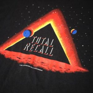 Vintage Early 90's Total Recall Promo T-Shirt 1990