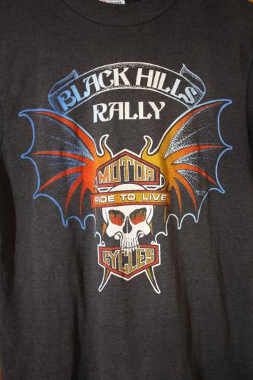 Vintage 80's Black Hills Rally For Bikers Only T-Shirt