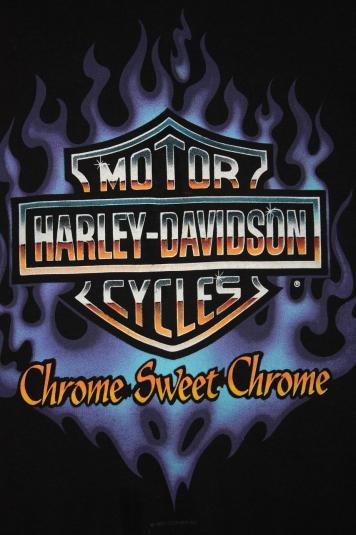 Vintage Early 90's Harley Davidson Fringed T-Shirt