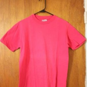 Blank Vintage 80's Hanes Beefy-T T-Shirt Pink Fuschia Medium