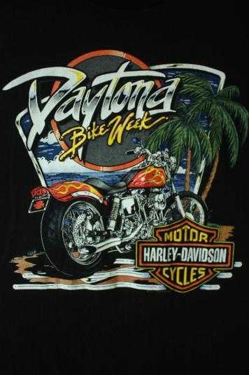 Vintage 4XL!!! Harley Davidson Bike Week 95 T-shirt