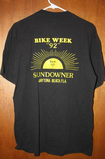 Vintage Sundowner Bike Week '92 Strip Club T-Shirt
