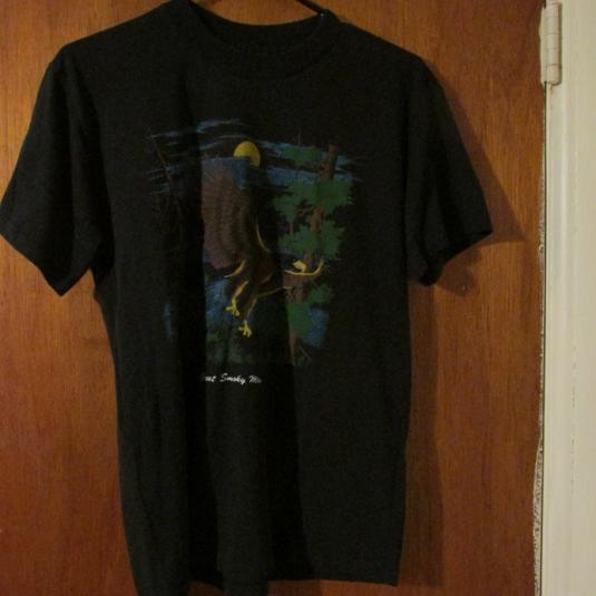 Vintage Smoky Mountains Tourist T-Shirt w/ Eagle