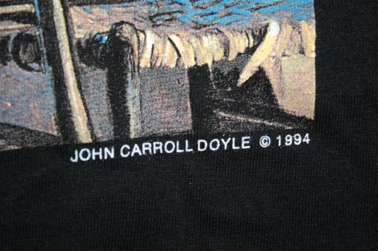 Vintage Blue Chicago John Carroll Doyle Painting 90s T-Shirt