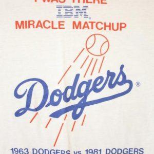 Vintage 1986 IBM Dodgers Computer Miracle Matchup T-Shirt