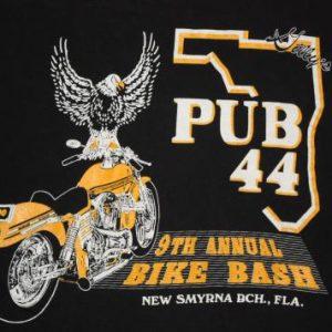 Vintage 90's Pub 44 New Smyrna Beach 9th Bike Bash T-Shirt