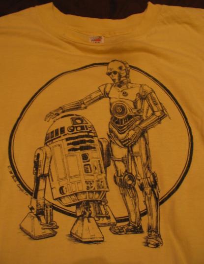 Star Wars C-3PO & R2-D2 shirt.