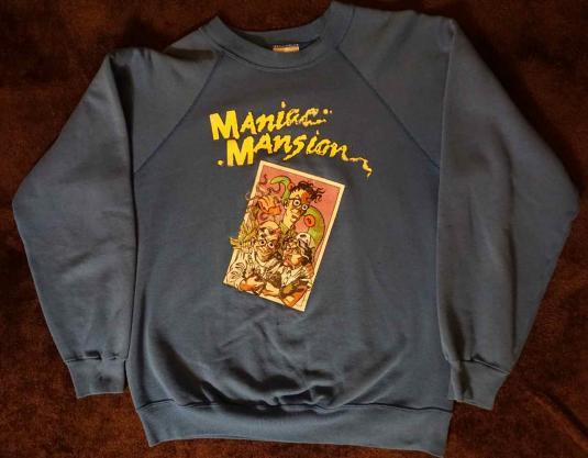 Vintage 1980s Lucasfilm Maniac Mansion sweatshirt.