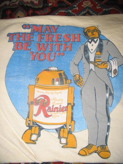 Rainier beer Star Wars parody shirt.