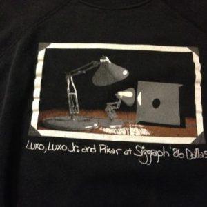 Early Luxo Lamp Pixar Siggraph sweatshirt