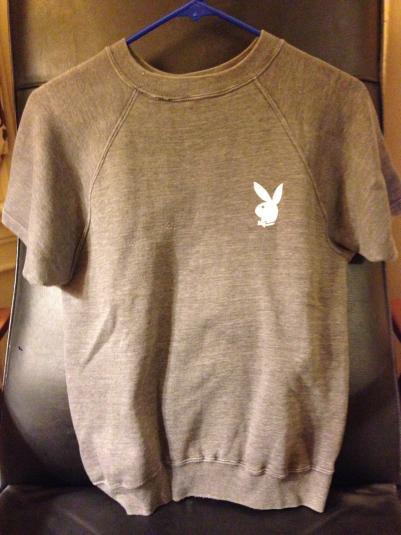 Playboy Bunny logo short sleeve sweatshirt