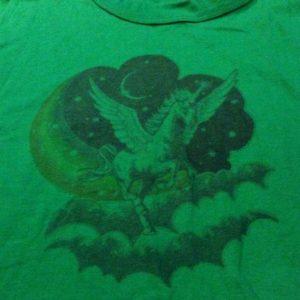 Magic Unicorn Rainbow, Moon, and Clouds Lucasfilm shirt.