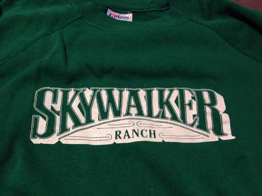 Skywalker Ranch sweatshirt.