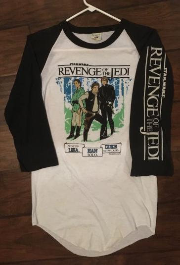 Star Wars Revenge of the Jedi salesman sample t-shirt.1983