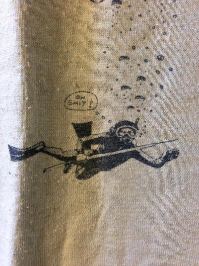 Cool 1980s Cephalopod/diver shirt