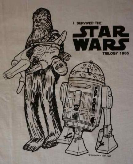 1985 Star Wars Lucasfilm cast & crew shirt.