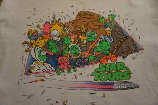 "Weird Star Wars ""Star Tours"" t-shirt."