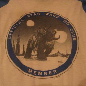 Star Wars Fan Club t-shirt.