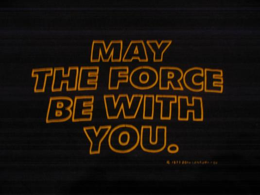 """Star Wars """"May The Force Be With You"""" t-shirt."""