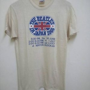 Vintage 60's The Beatles In Japan Shirt