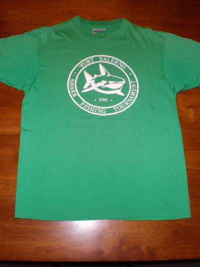 Vintage Shark Fishing Tournament T-Shirt Port Salerno