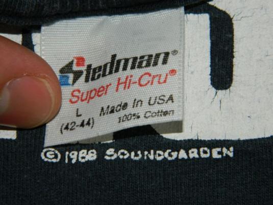 Vintage Soundgarden 1988 Fuck Happens T-shirt