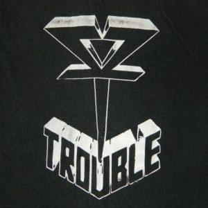 Vintage TROUBLE 1985 THE SKULL T-Shirt Tour 80s Doom Metal