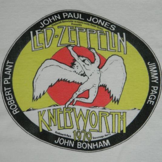 Vintage LED ZEPPELIN KNEBWORTH 1979 CONCERT T-Shirt 70s tour
