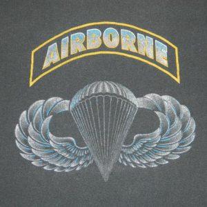Vintage 80S AIRBORNE T-SHIRT AIR FORCE RANGERS